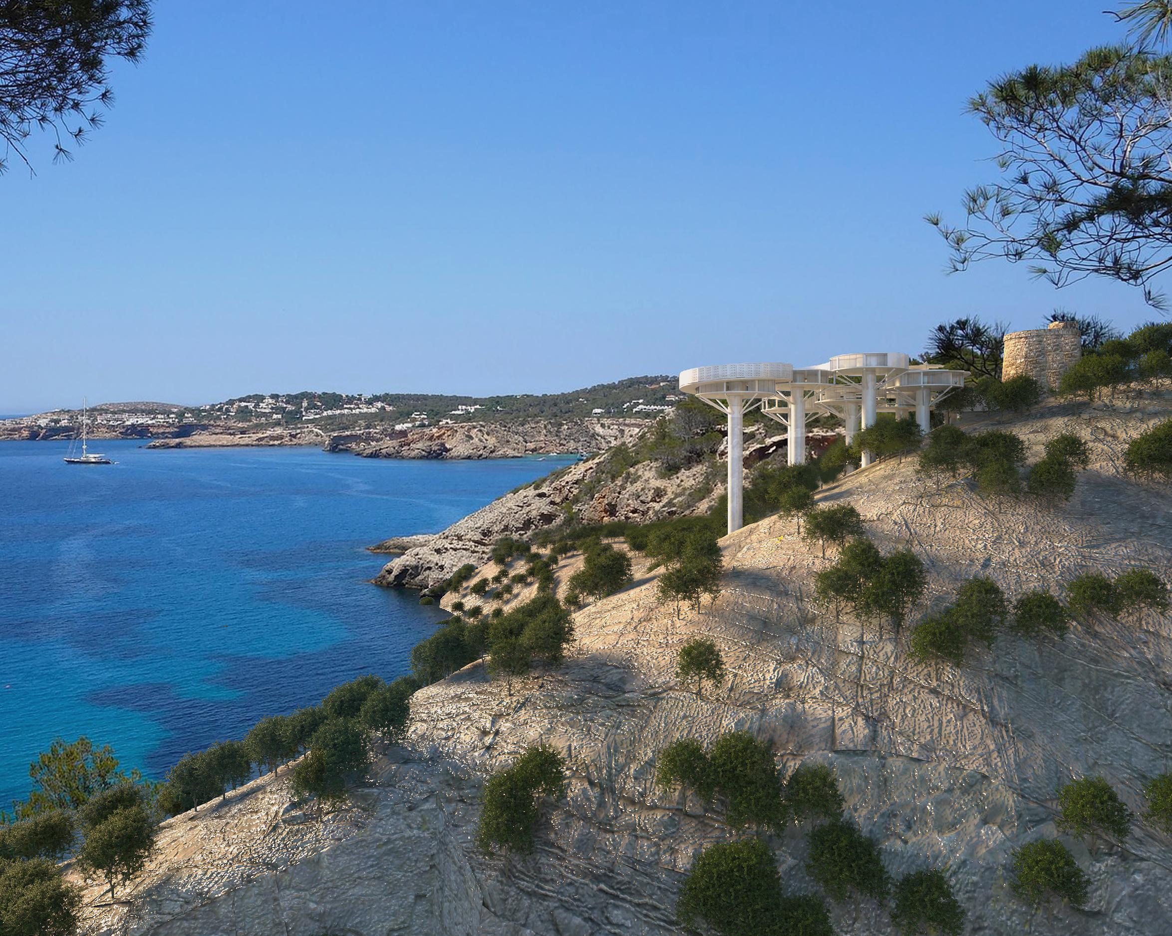 ibiza island sea view