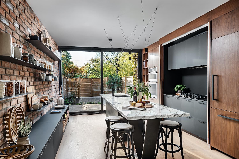 modern kitchen with natural light