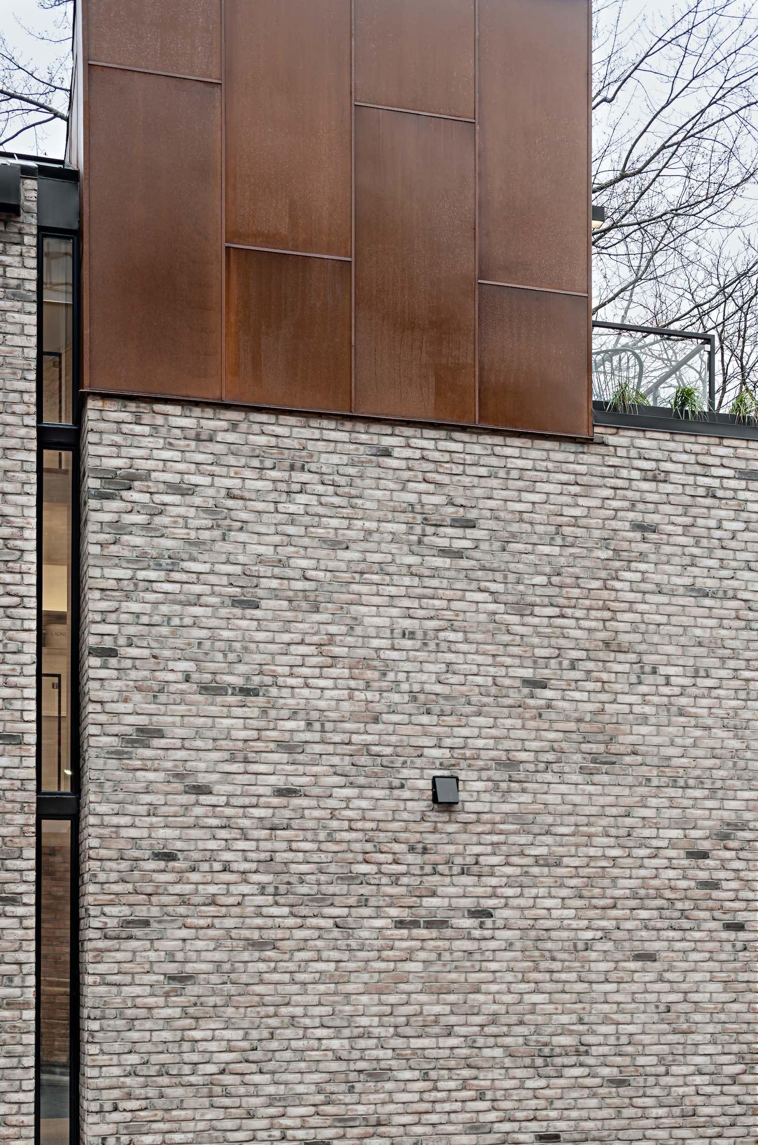 brick exterior facade