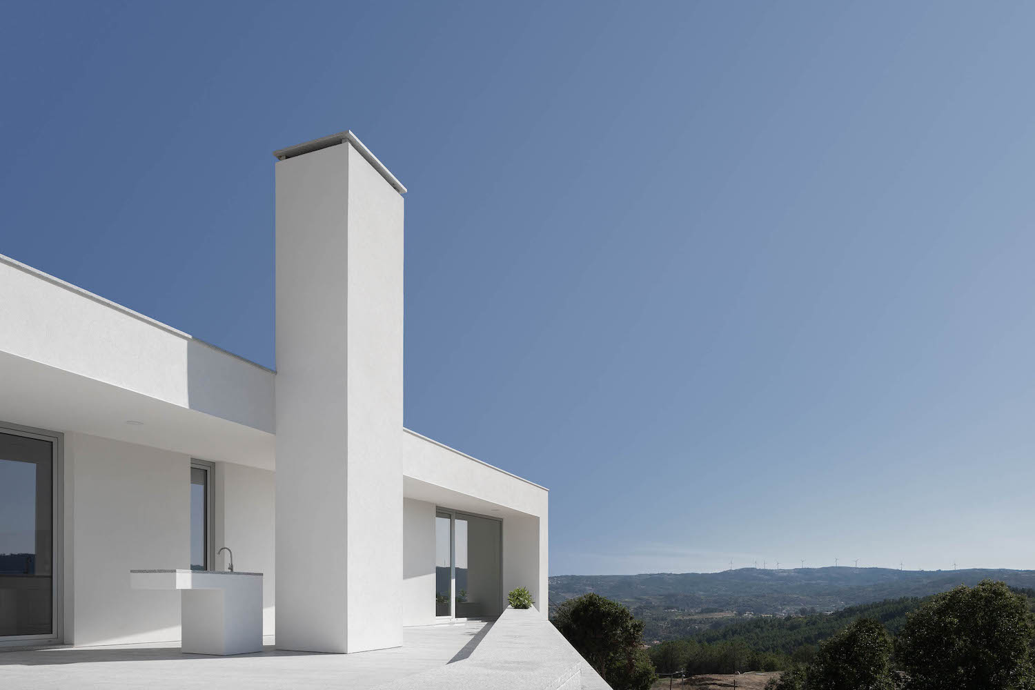 house with white stucco