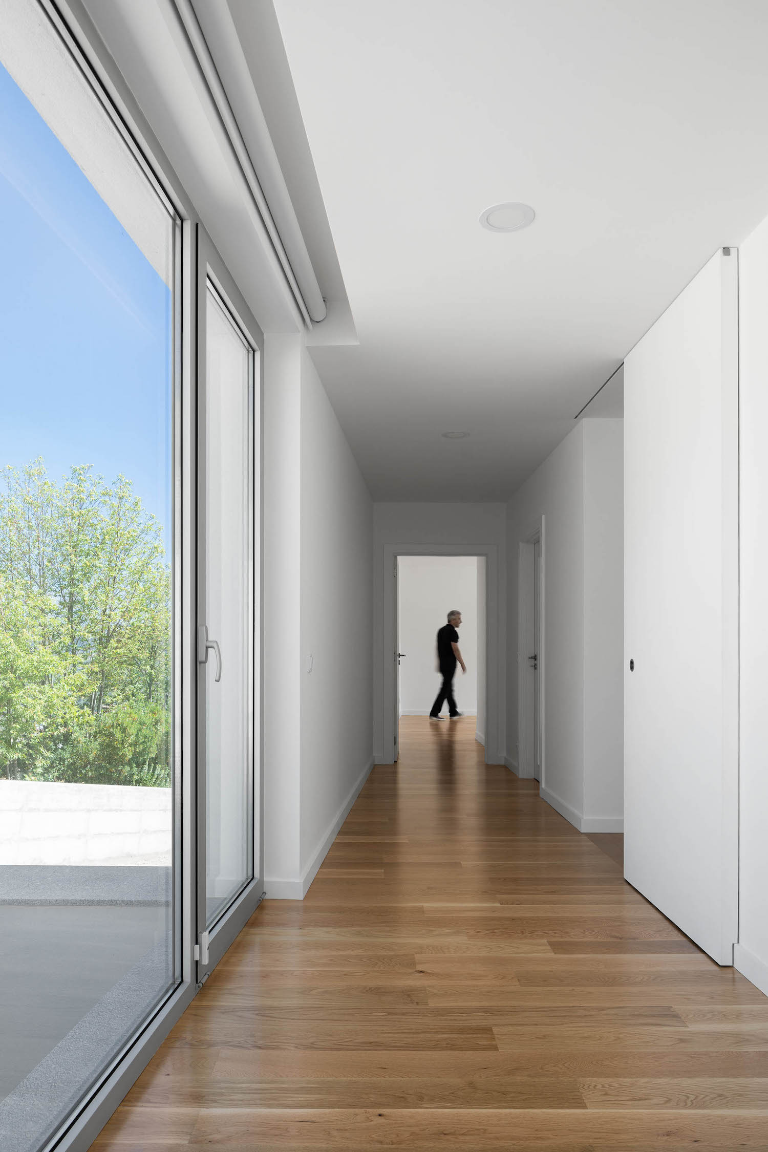 corridor with white walls