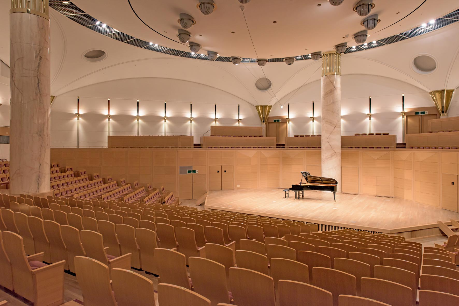 concert hall with audience seats