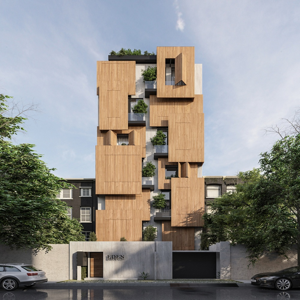 six story residential apartment design