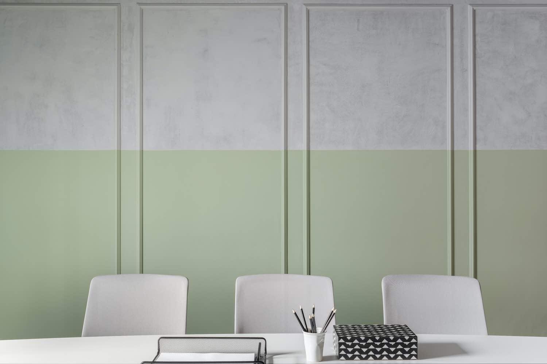 green painting wall
