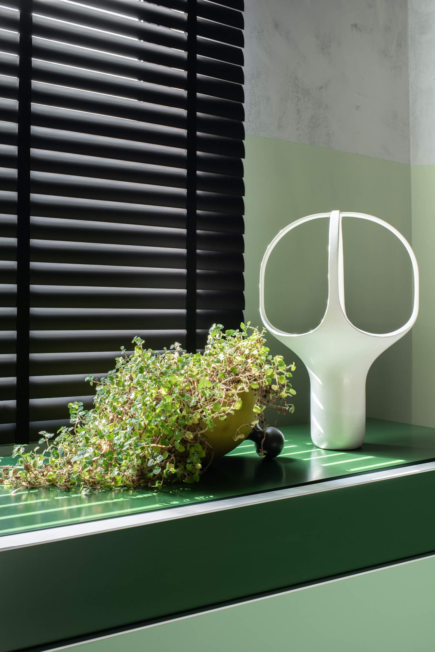 vegetation above the table