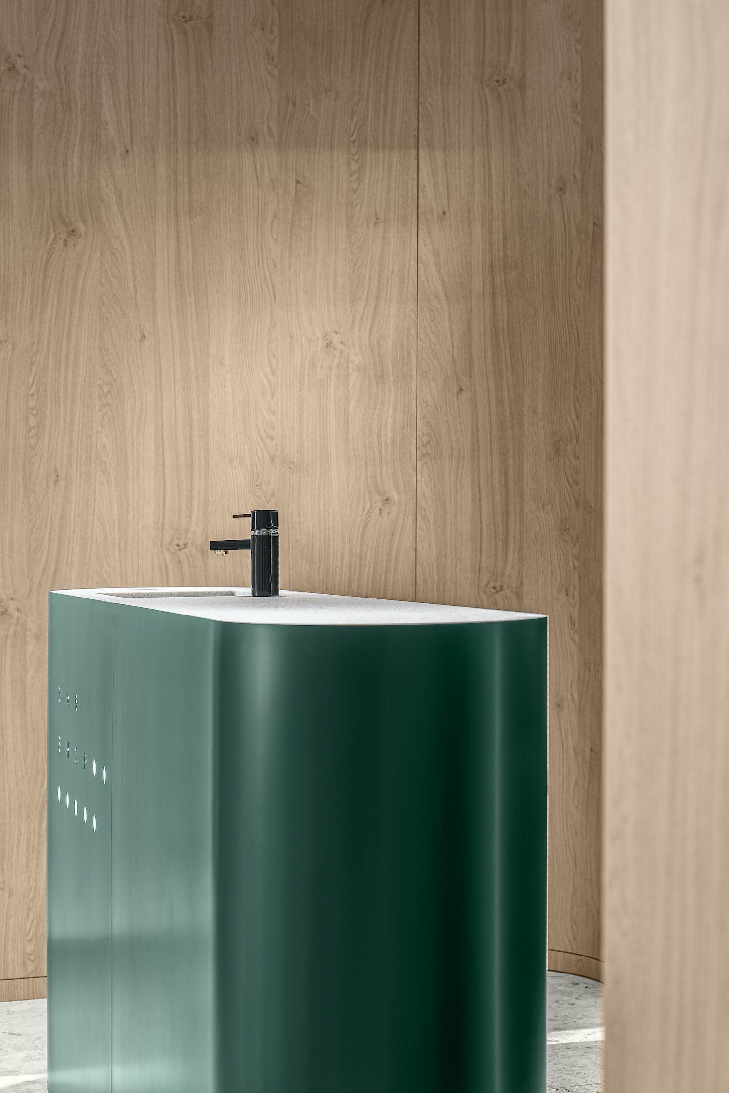 green washing basin