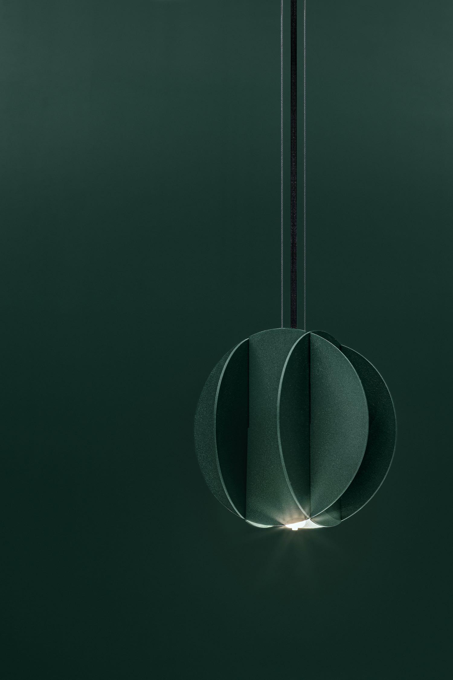 green pendant lamp