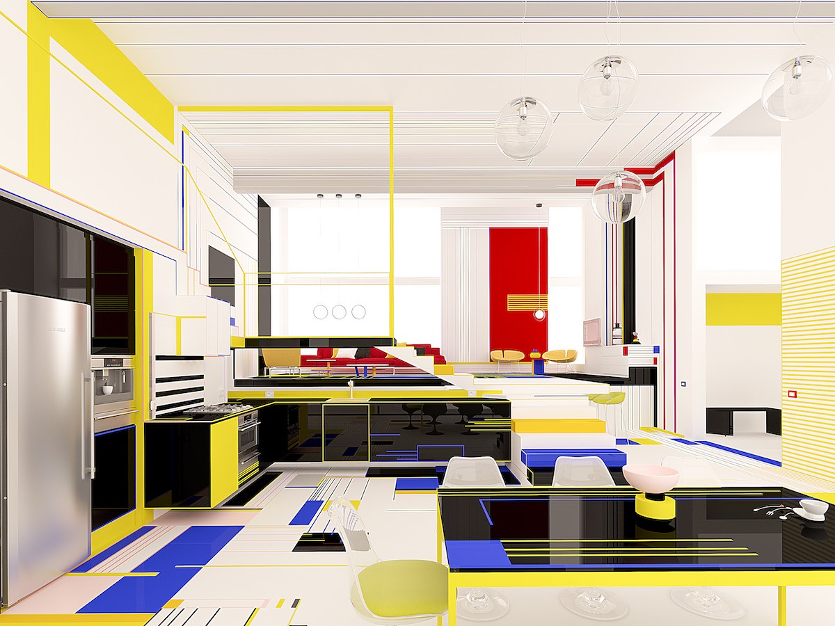 interior design of Breakfast with Mondrian designed by Brani & Desi