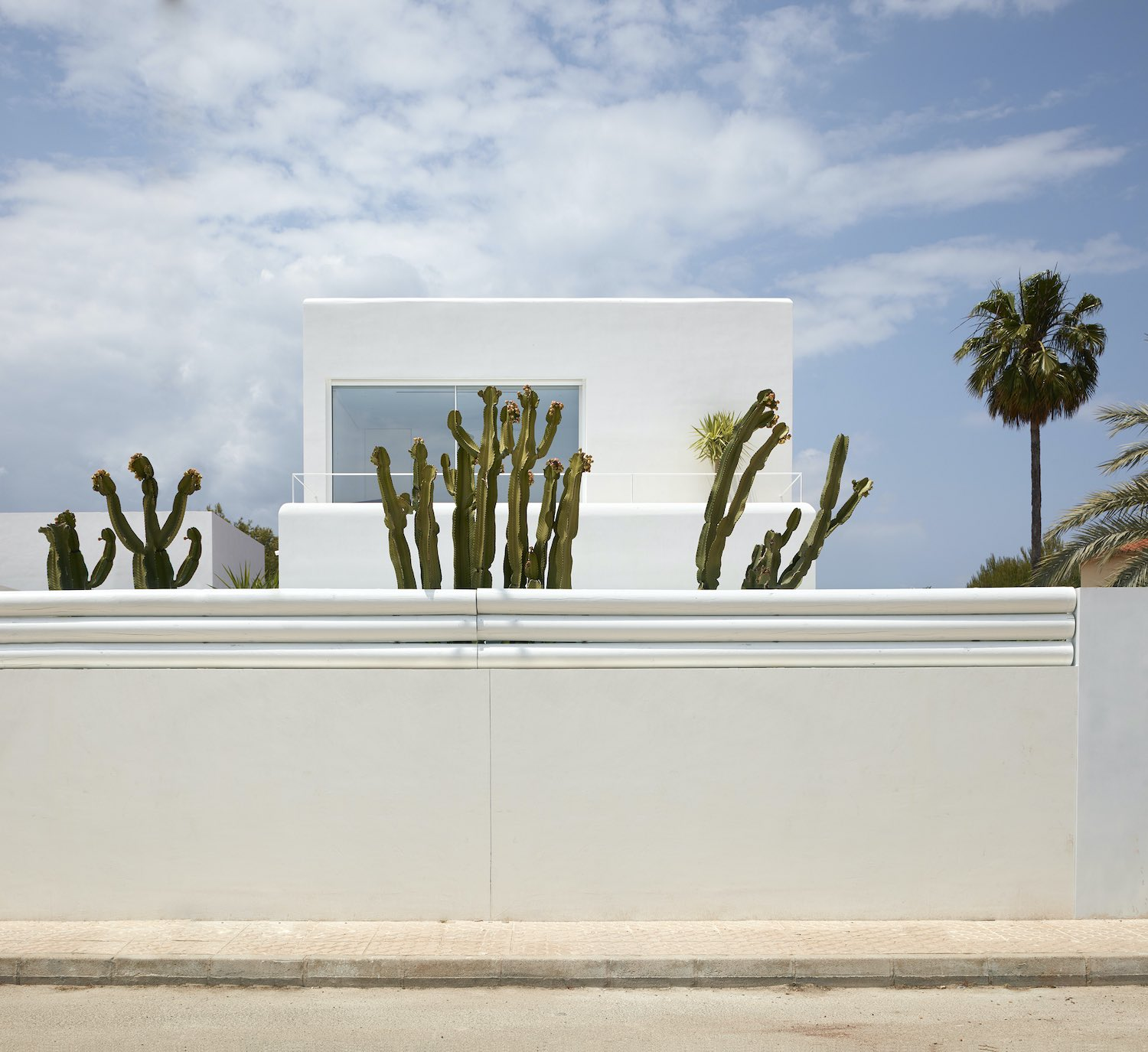 White House with cactus plant in Spain