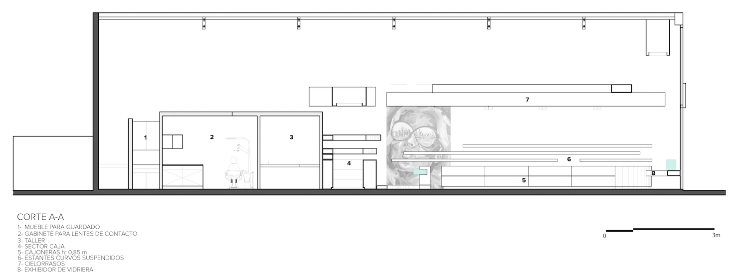 architectural section drawing