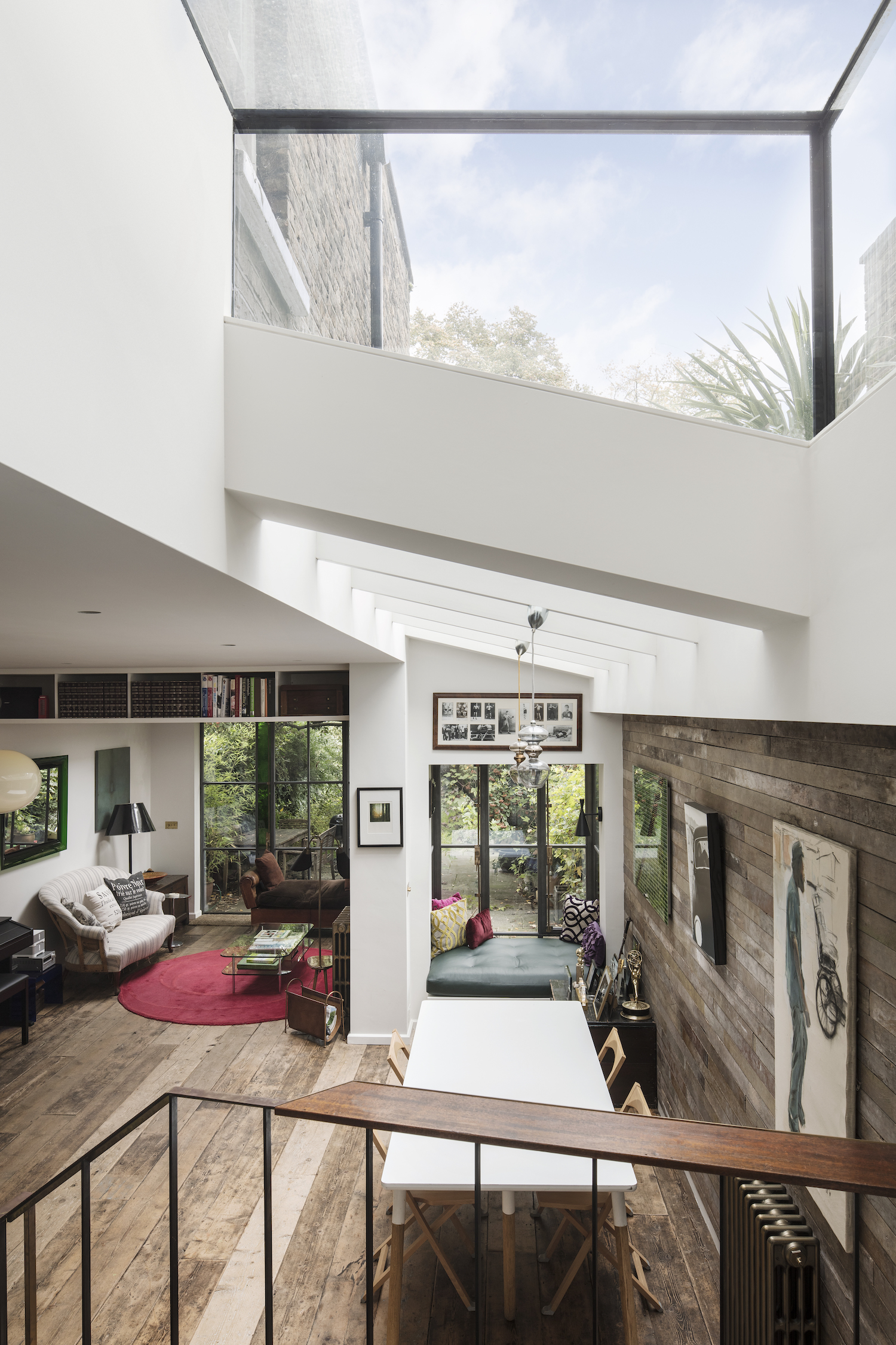 a victorian home in London with big skylight in roof