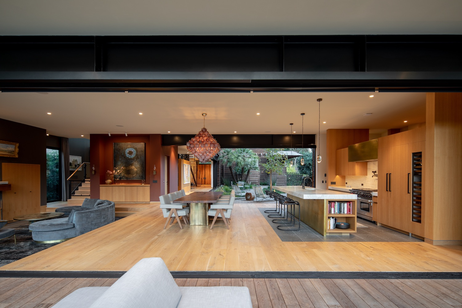 modern living room near the dining area