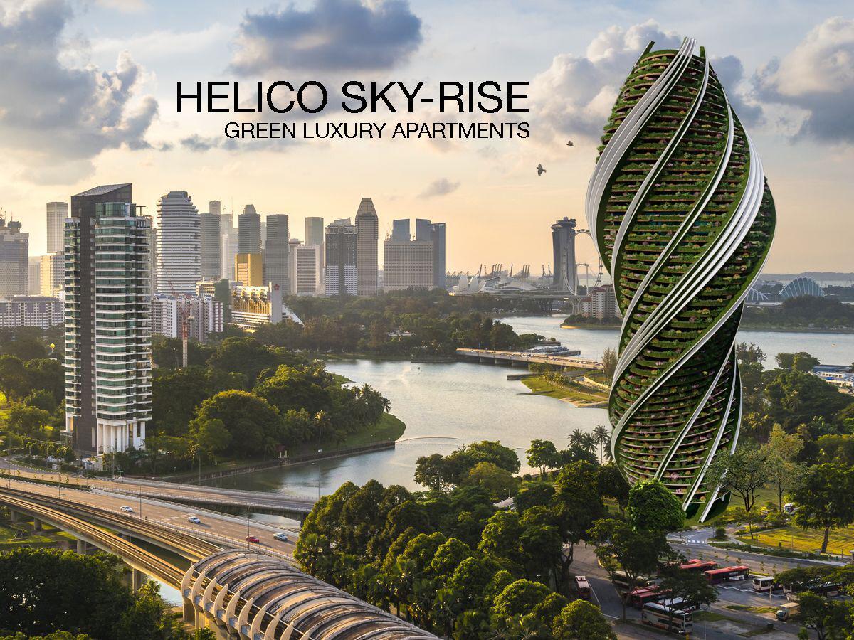 green skyscraper in Singapore
