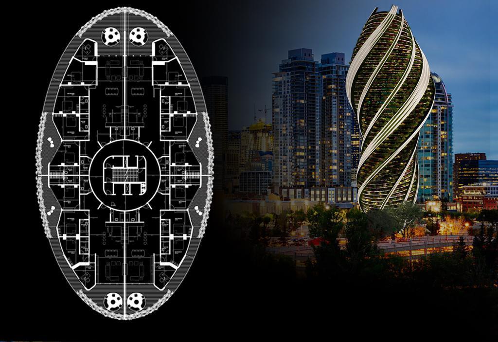 architectural plan for skyscraper