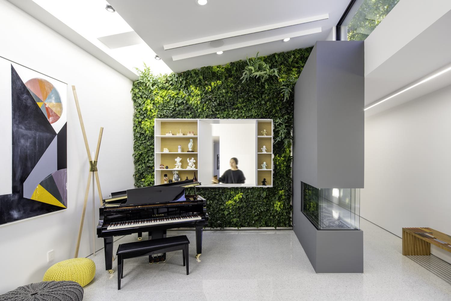 piano in the room