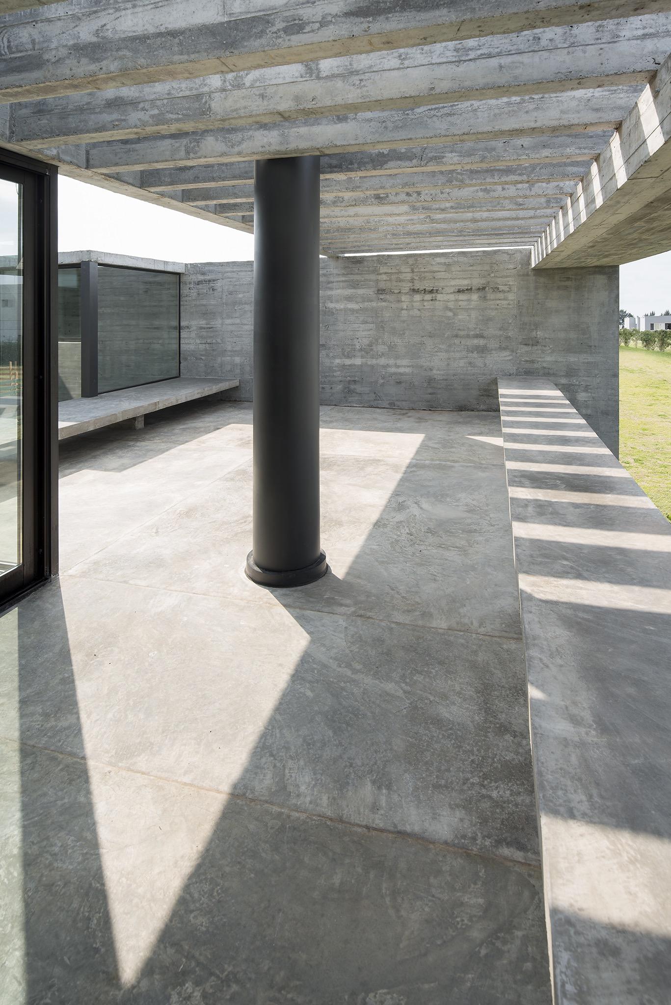 black metallic column