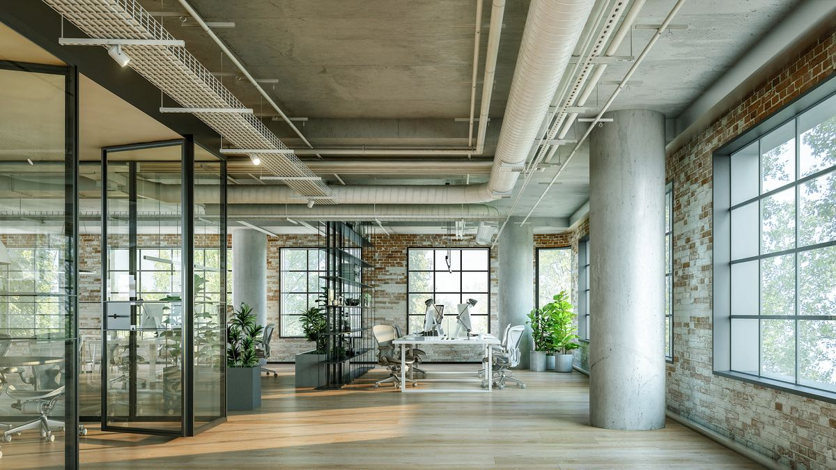 the working office spaces