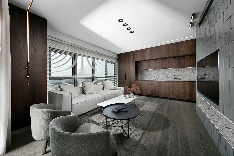 modern living room design with luxury sofa