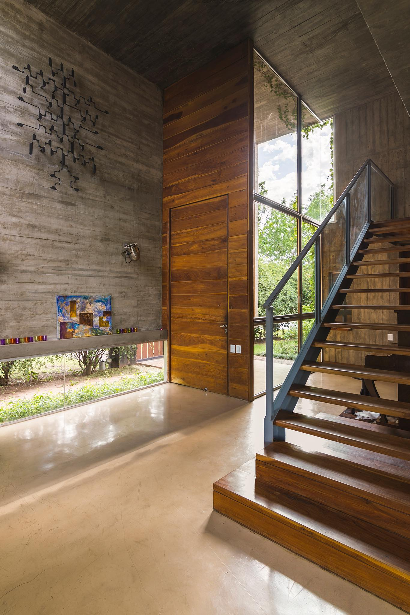 the entrance of KM house designed by Estudio Pablo Gagliardo in Argentina