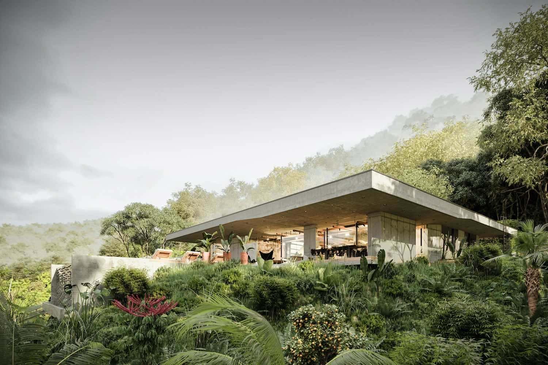 rendering image of the art villa