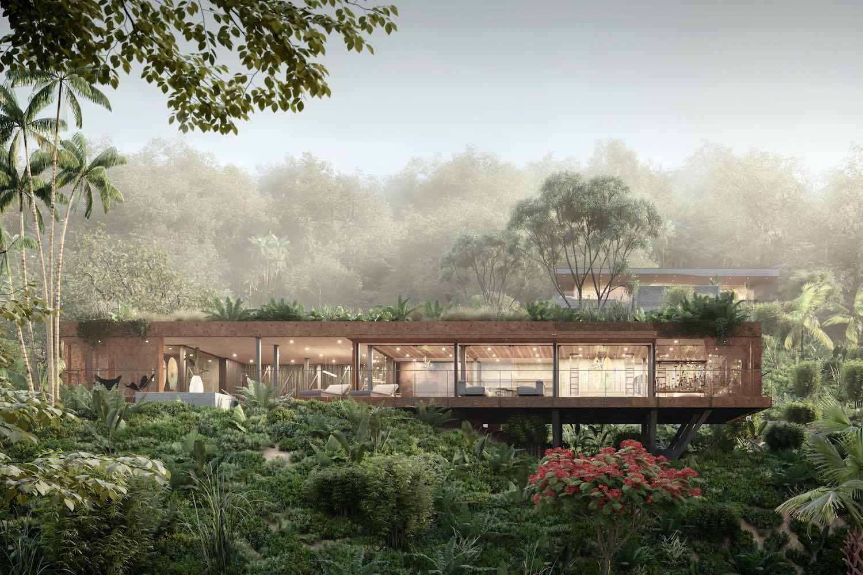 a villa in the beautiful jungle of Costa Rica