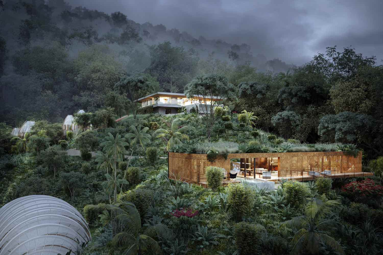 villa in the middle of jungle