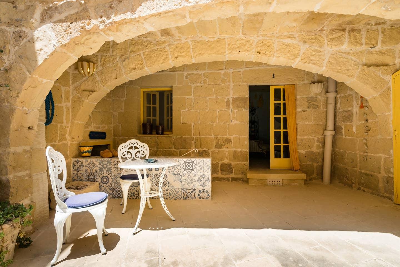 seventeenth century farmhouse in Malta made of stone