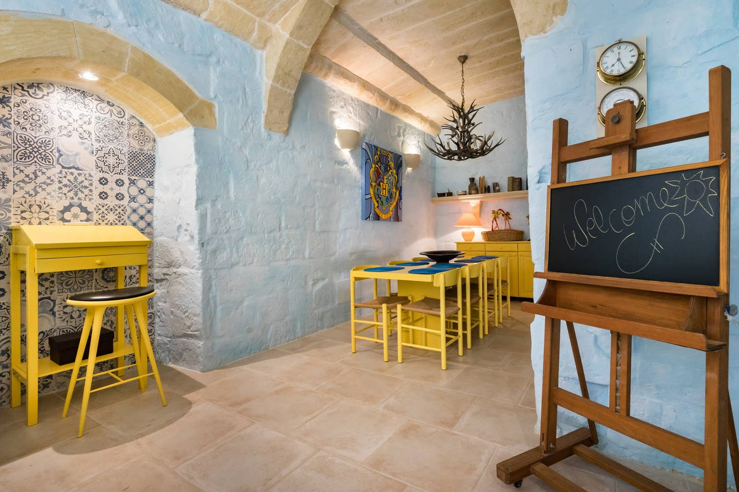 kitchen design with tiles on the wall