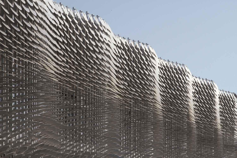 exterior made of aluminum