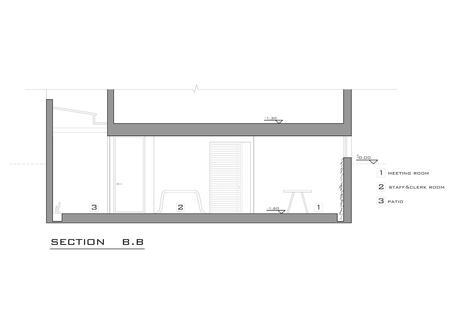 architectural section detail for office