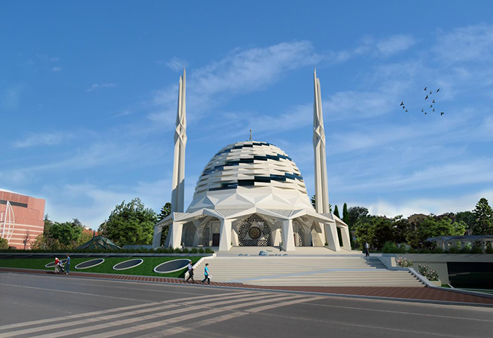 Marmara University Theology Faculty Mosque designed by by Hassa Architecture