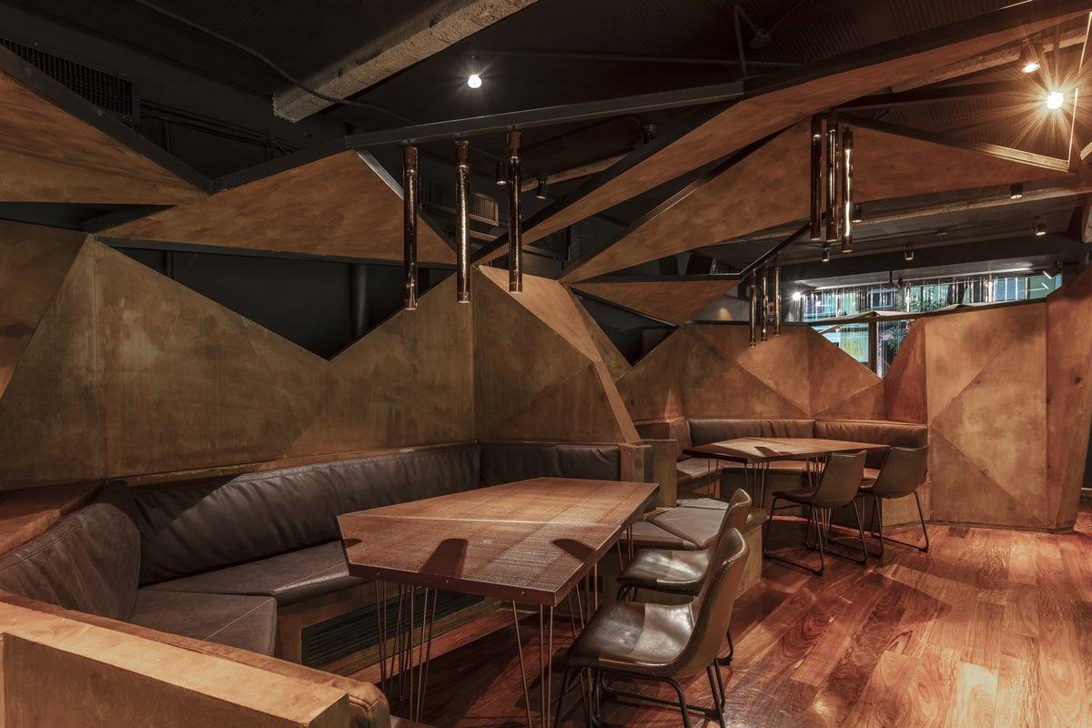 interior design of the bar