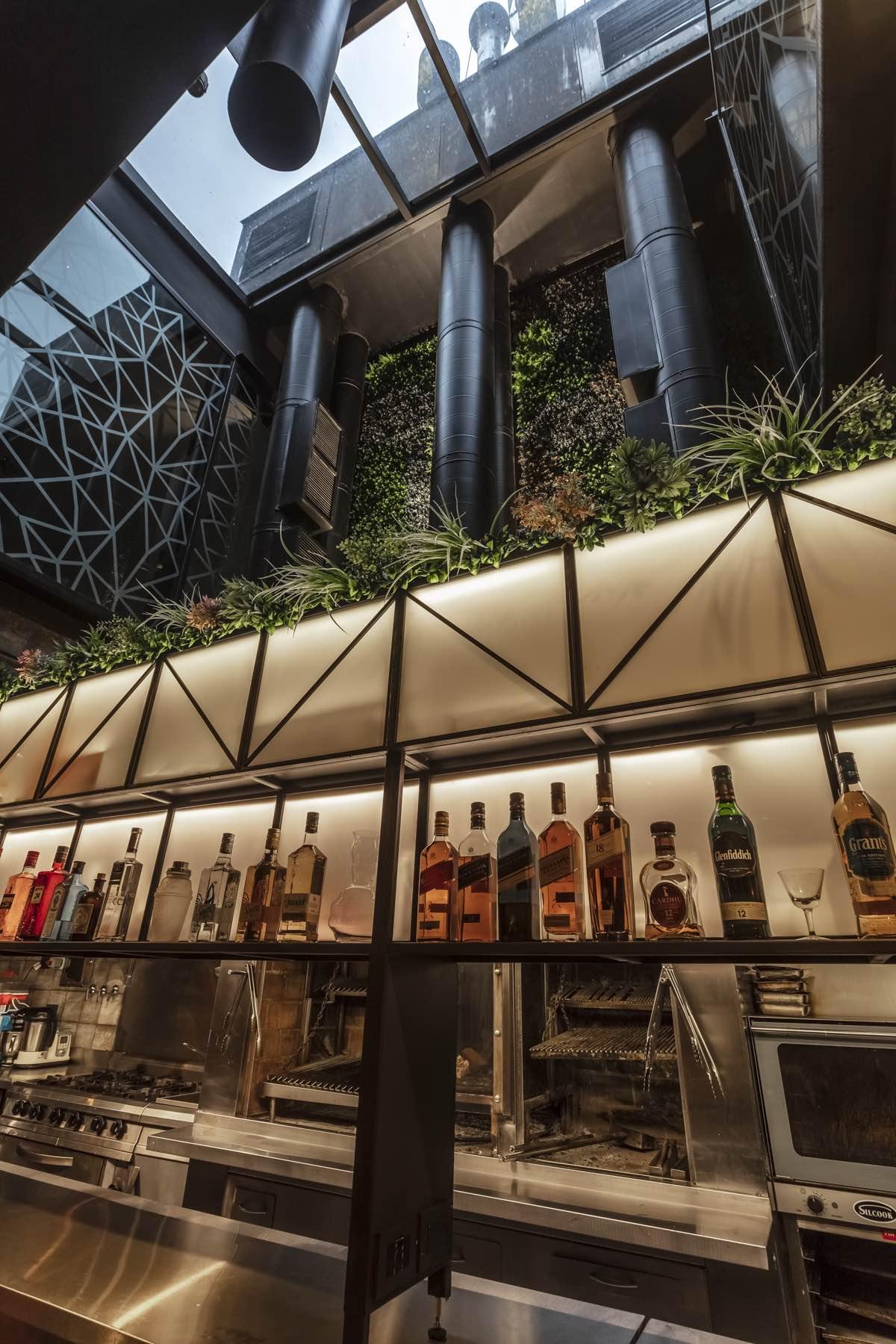 the skylight over the bar