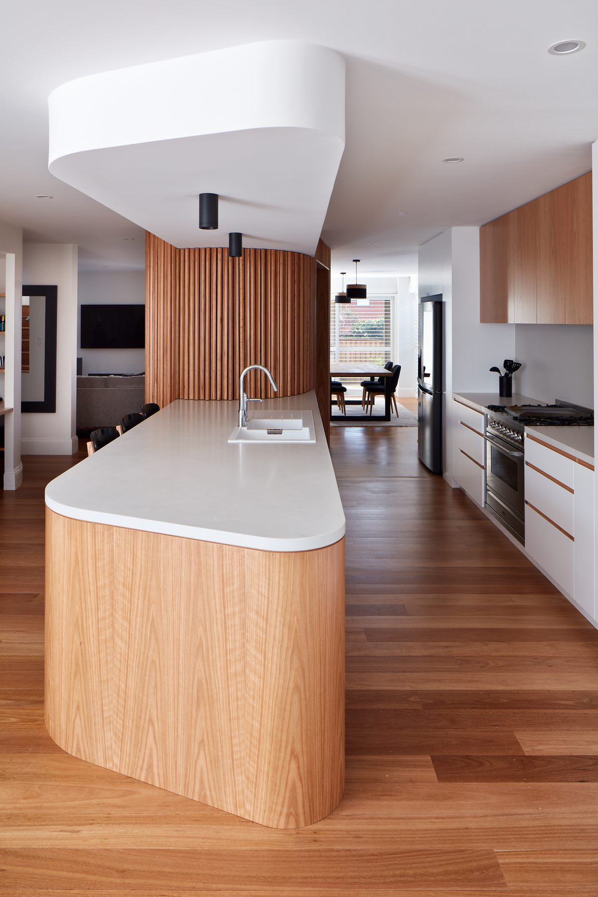 the kitchen of the home