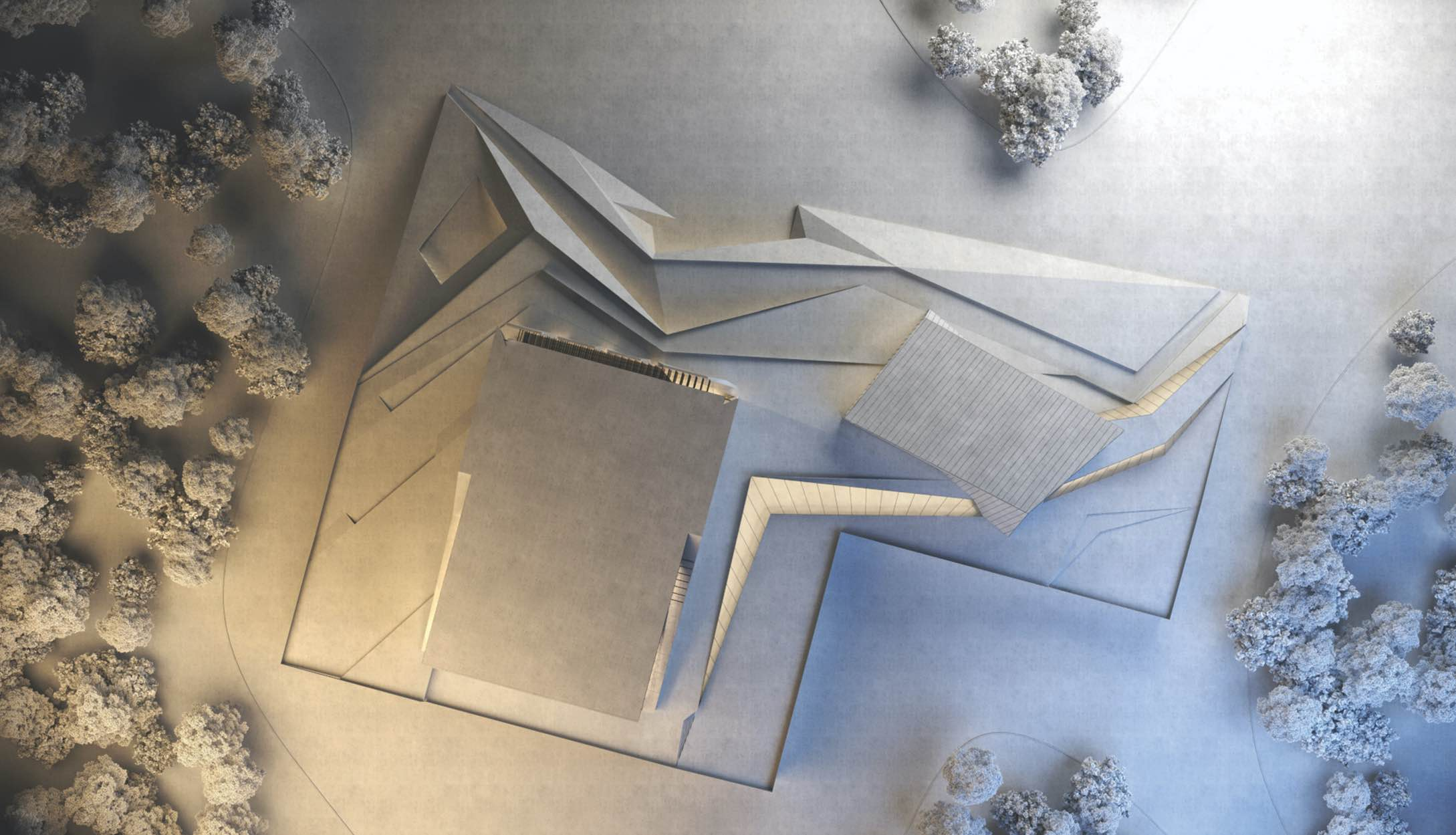 maquette of the cultural concert house