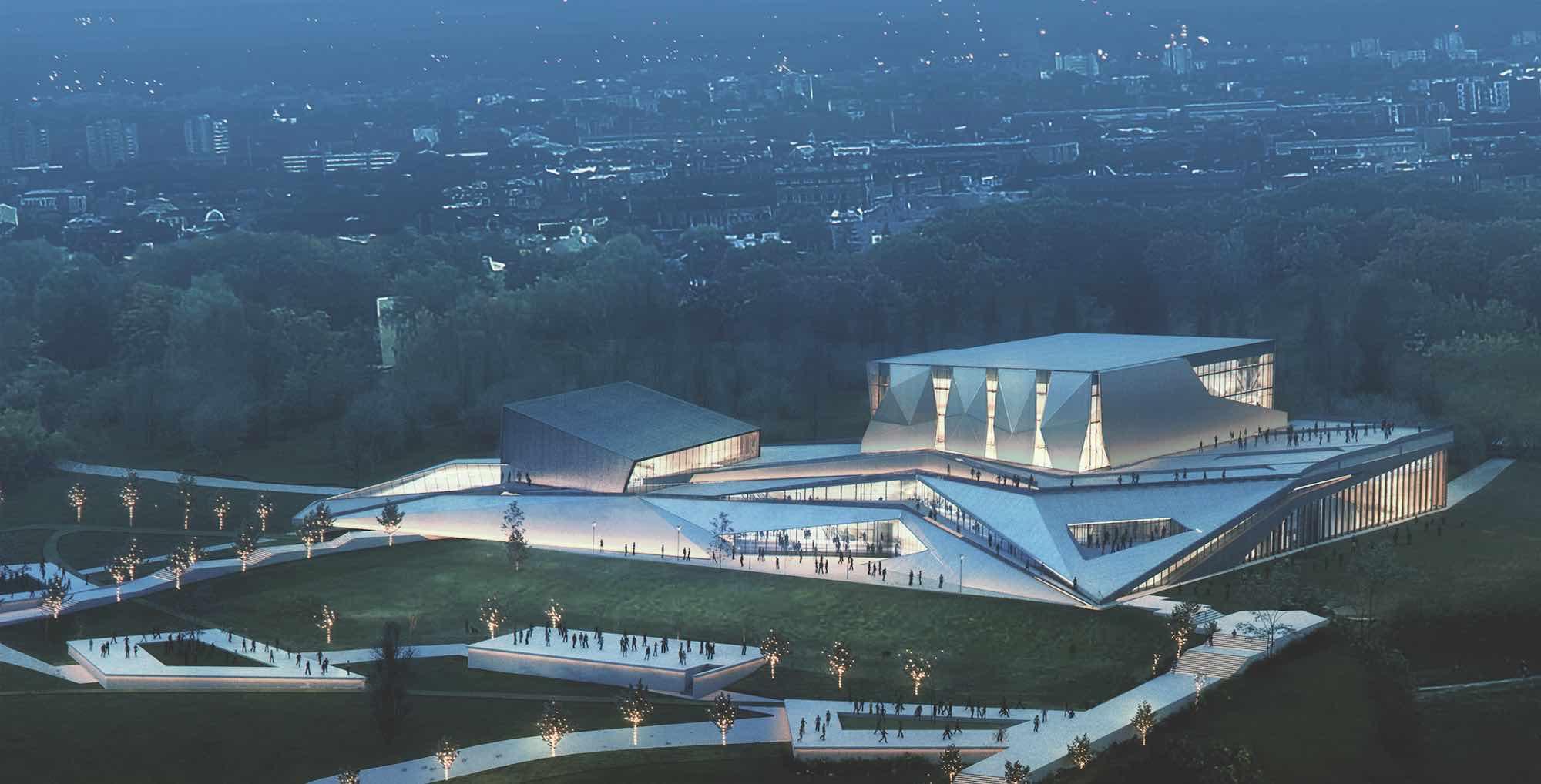 rendering image of concert hall