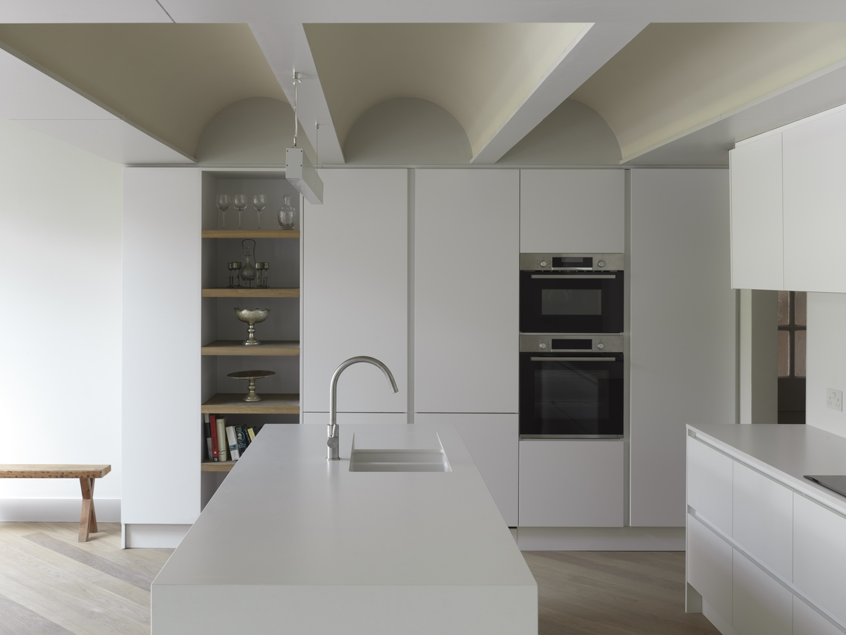 Curved vaults on Shepherds Hill by Inglis Badrashi Loddo Architects in London