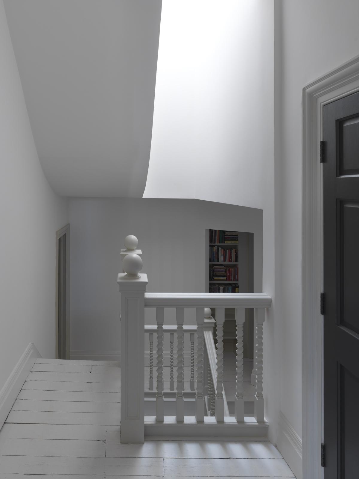 white handrail in a White House