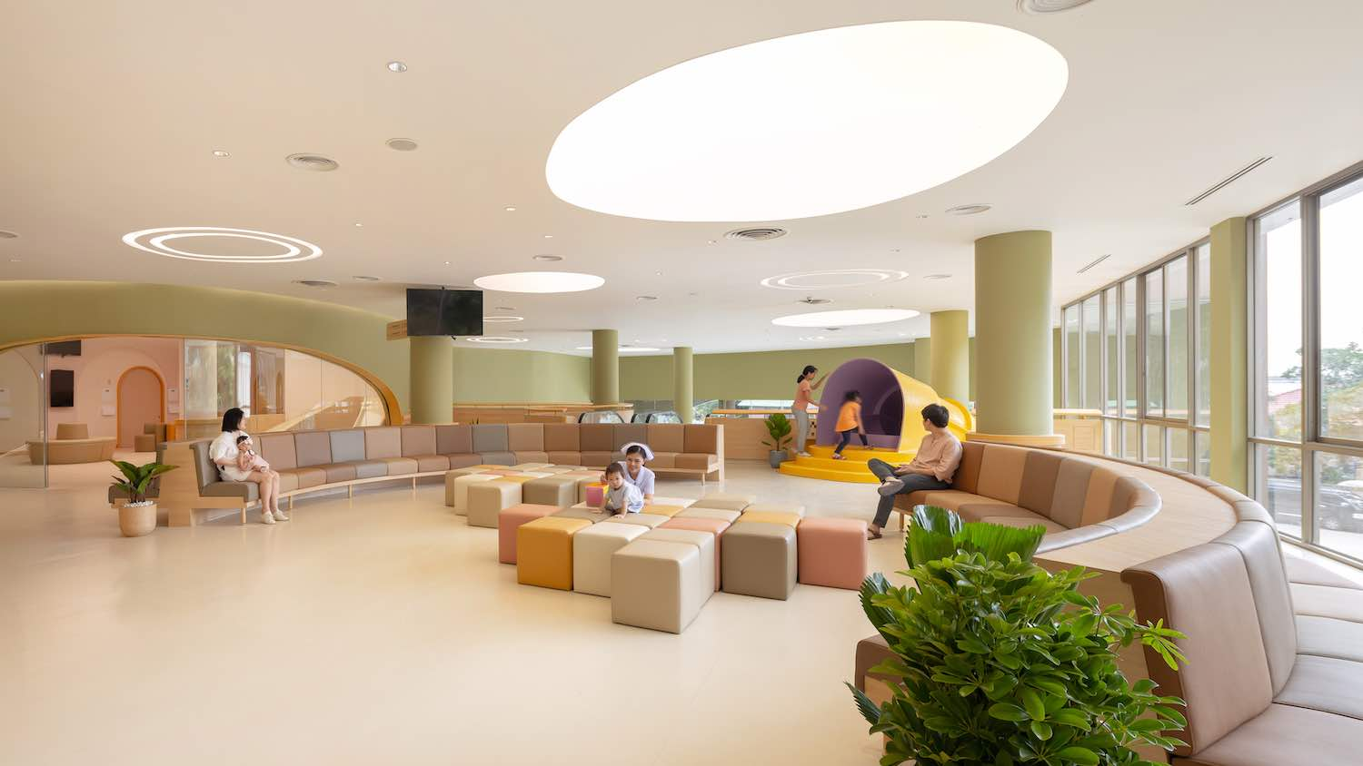 playing area located at the lobby of the hospital