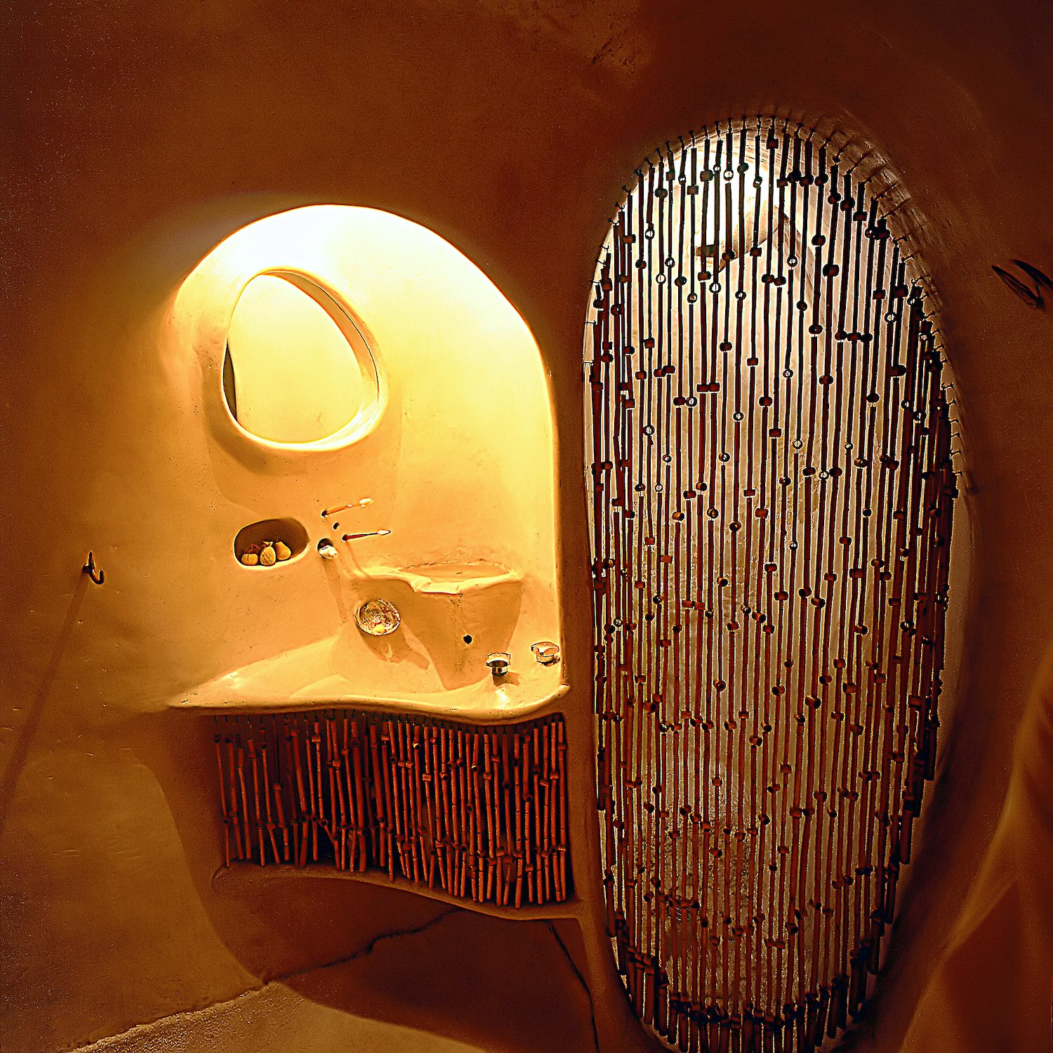bathroom with organic architecture