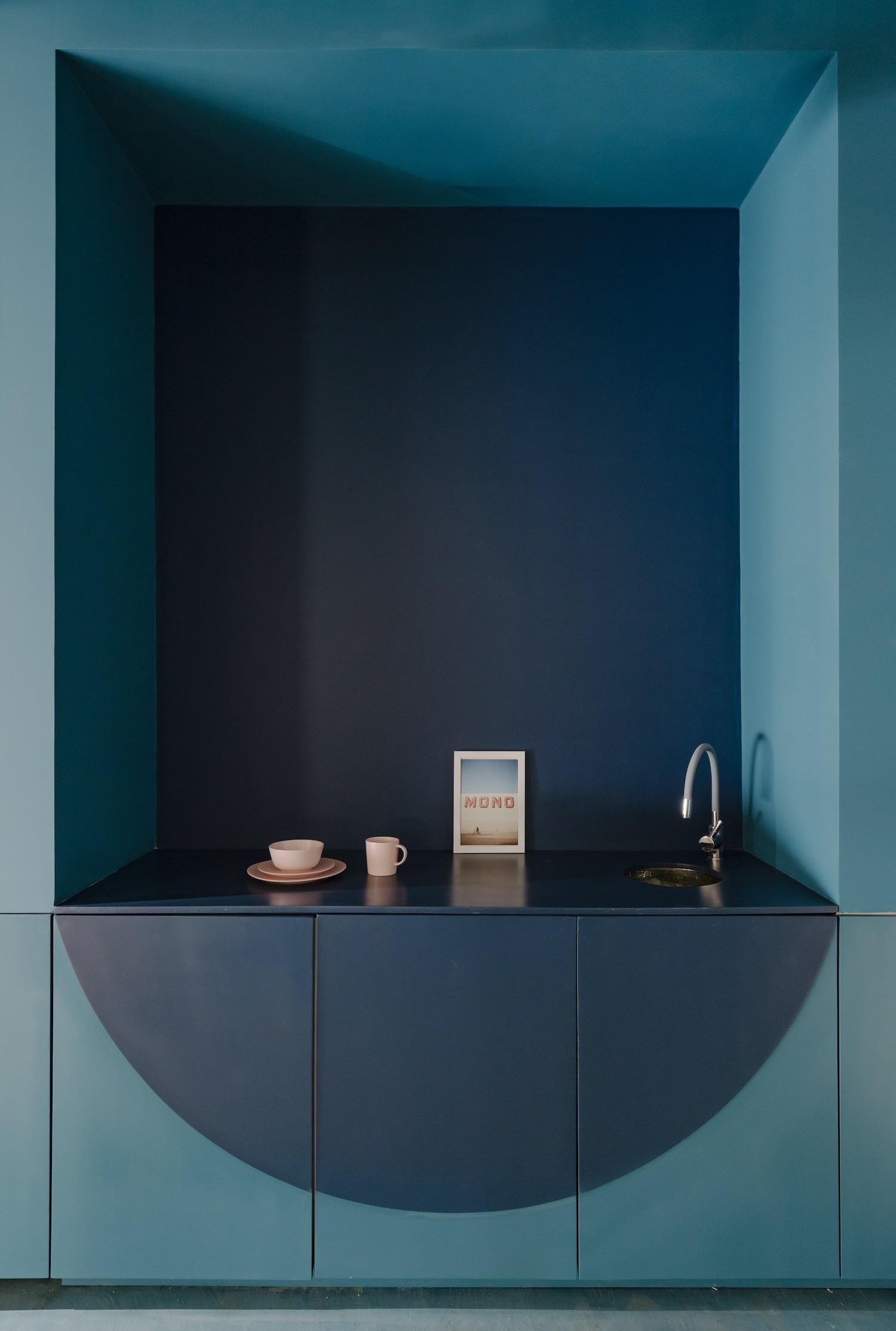 blue wall interior design