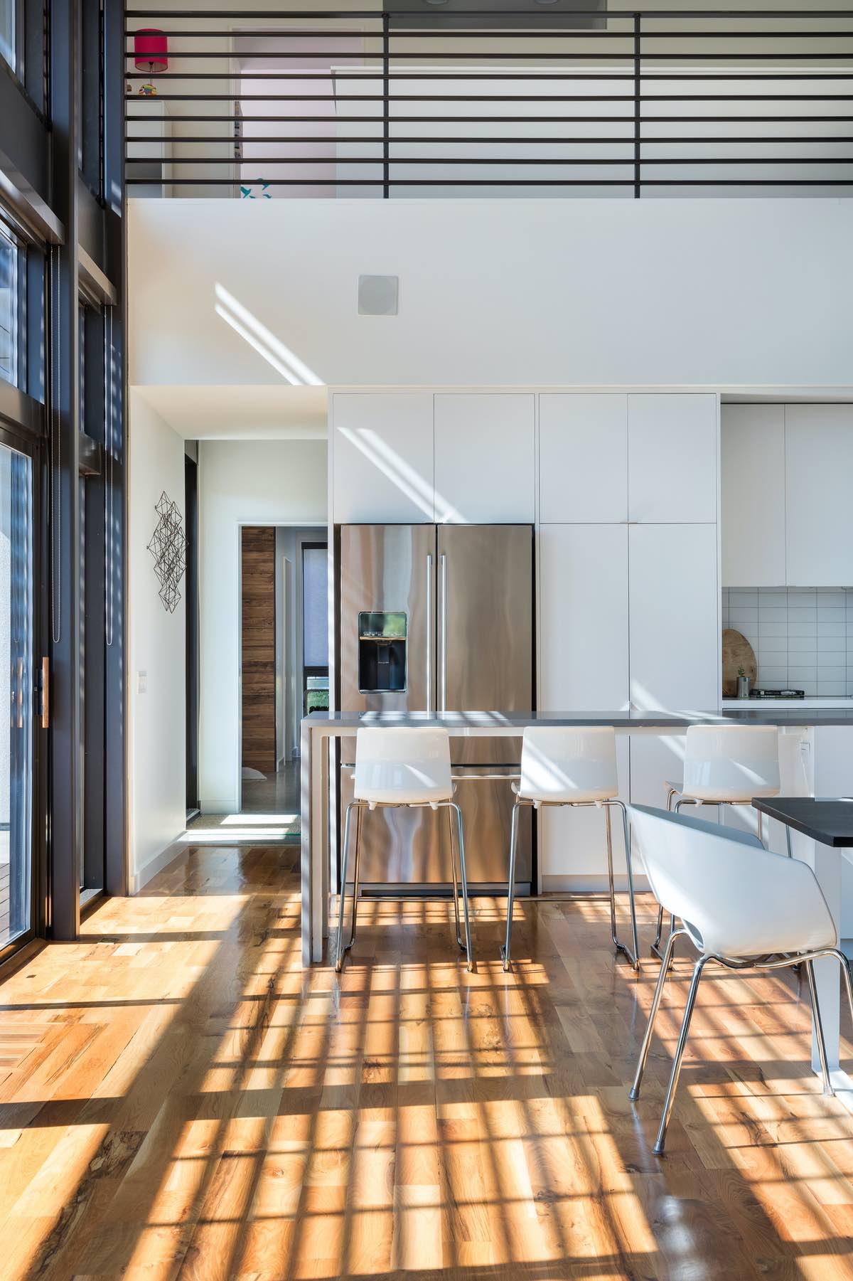 sun light entering the kitchen through window