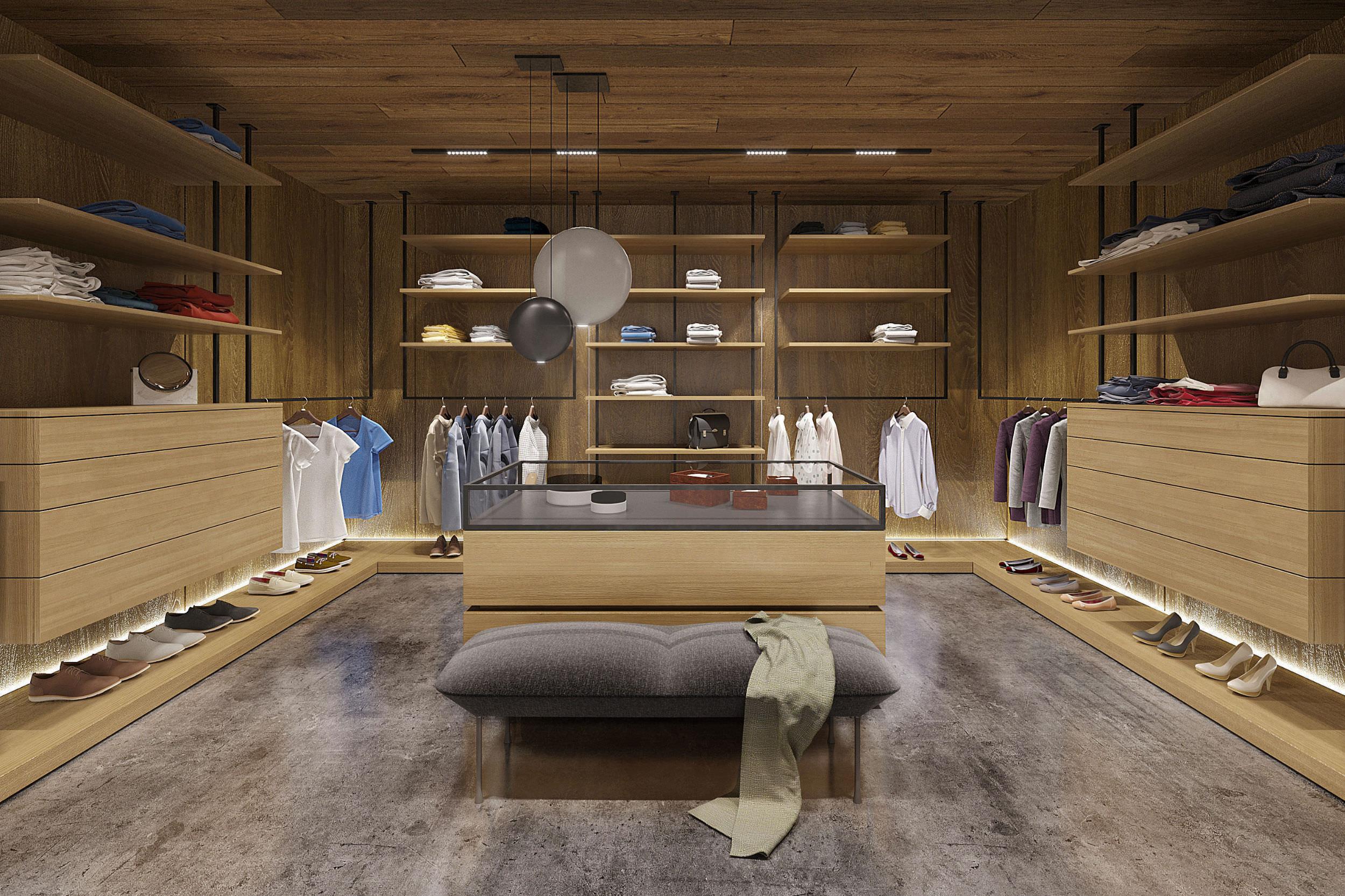 wardrobe in dressing room