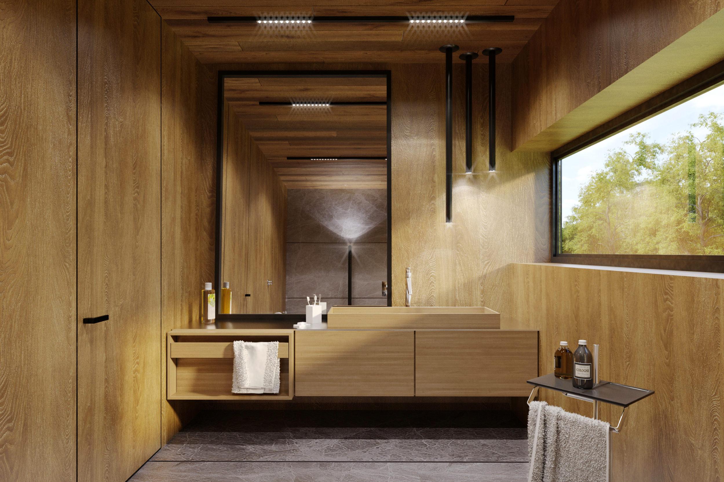 wooden washing basin
