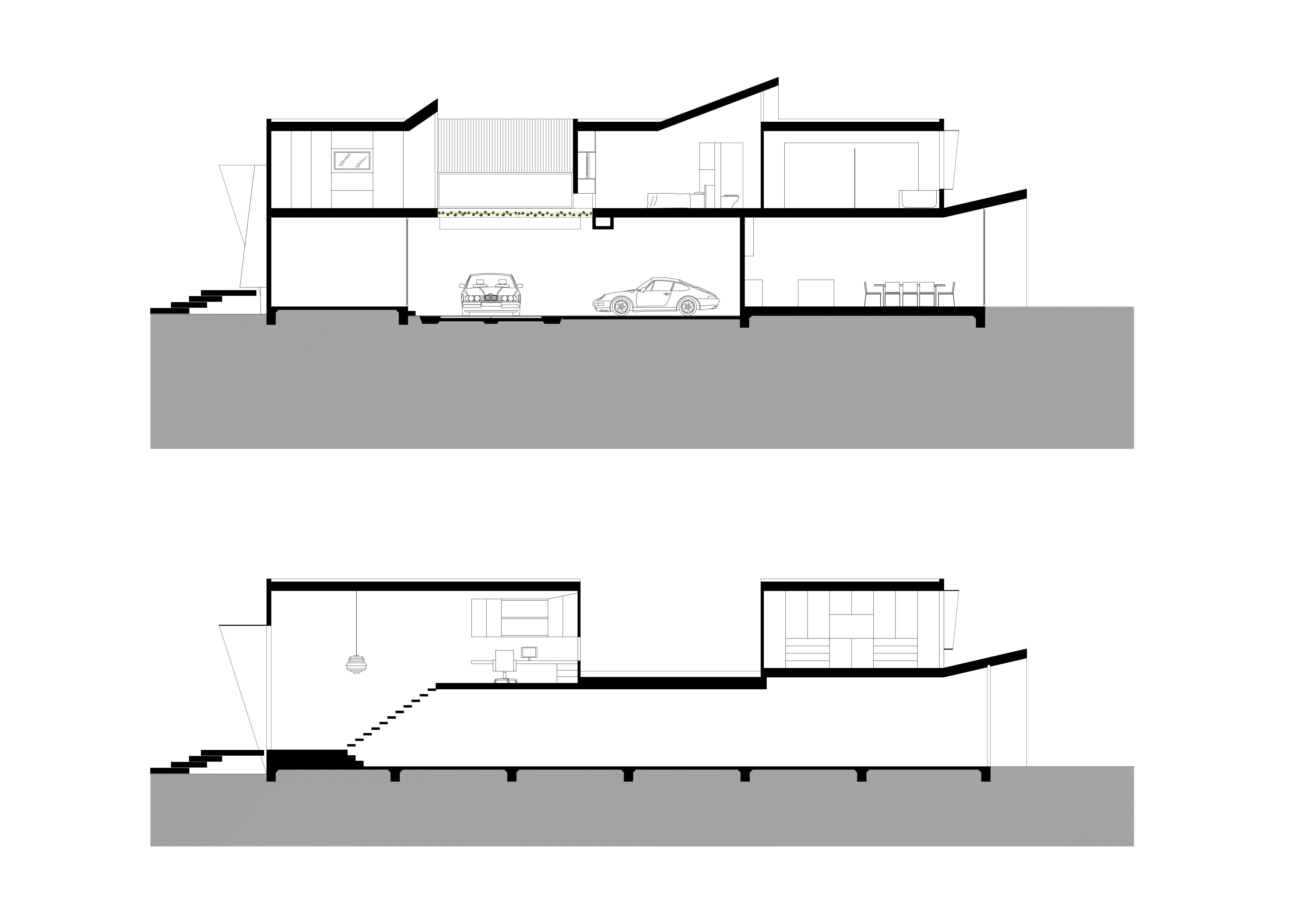 Architectural section drawings