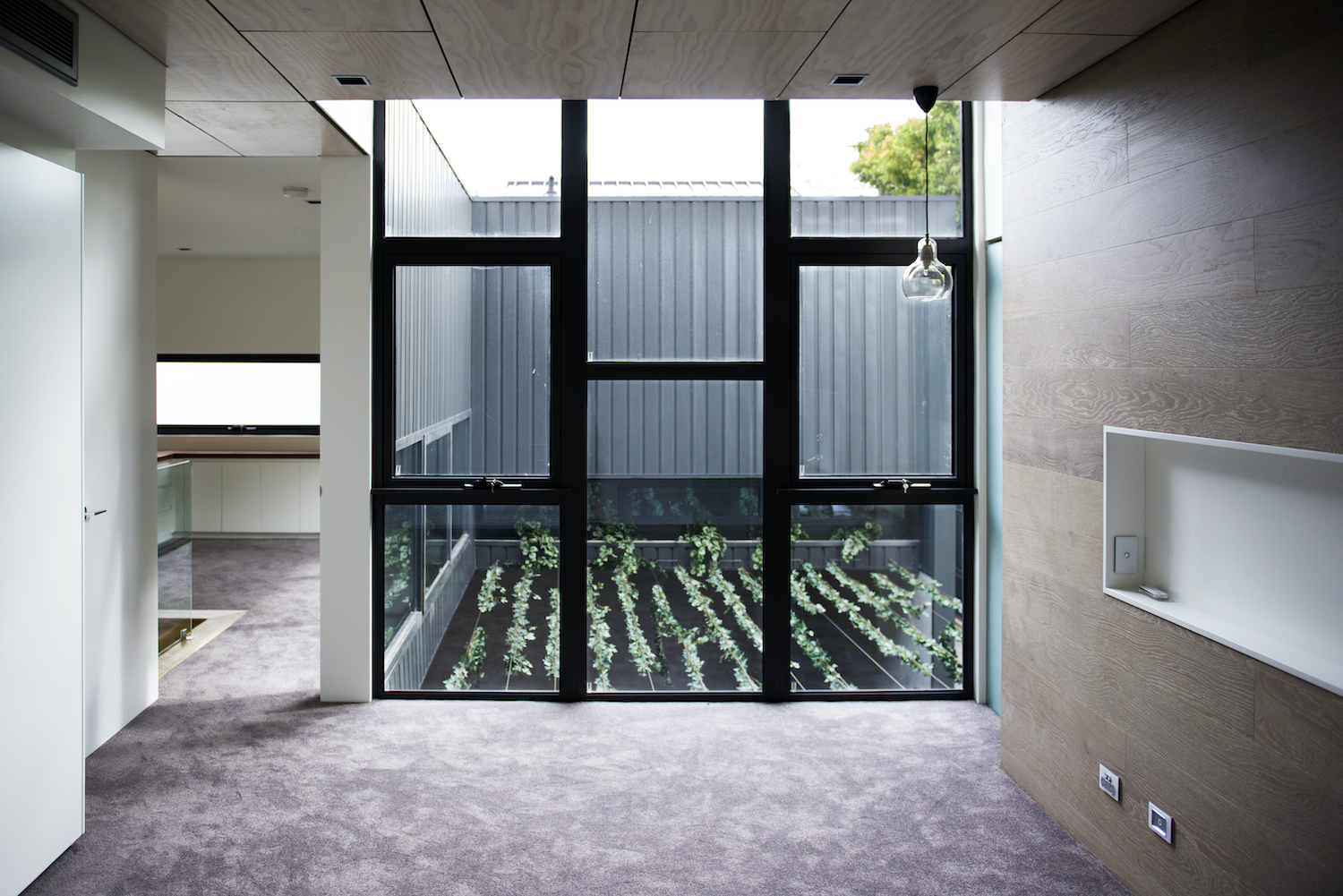 house with central courtyard and indoor garden