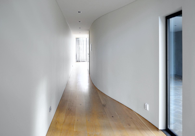 corridor with parquet floor