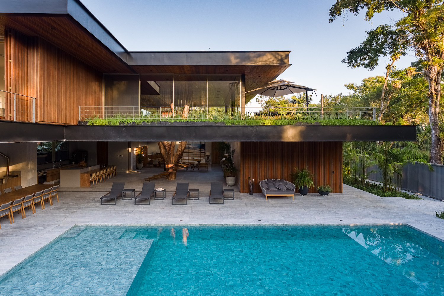 modern house in Brazil with pool