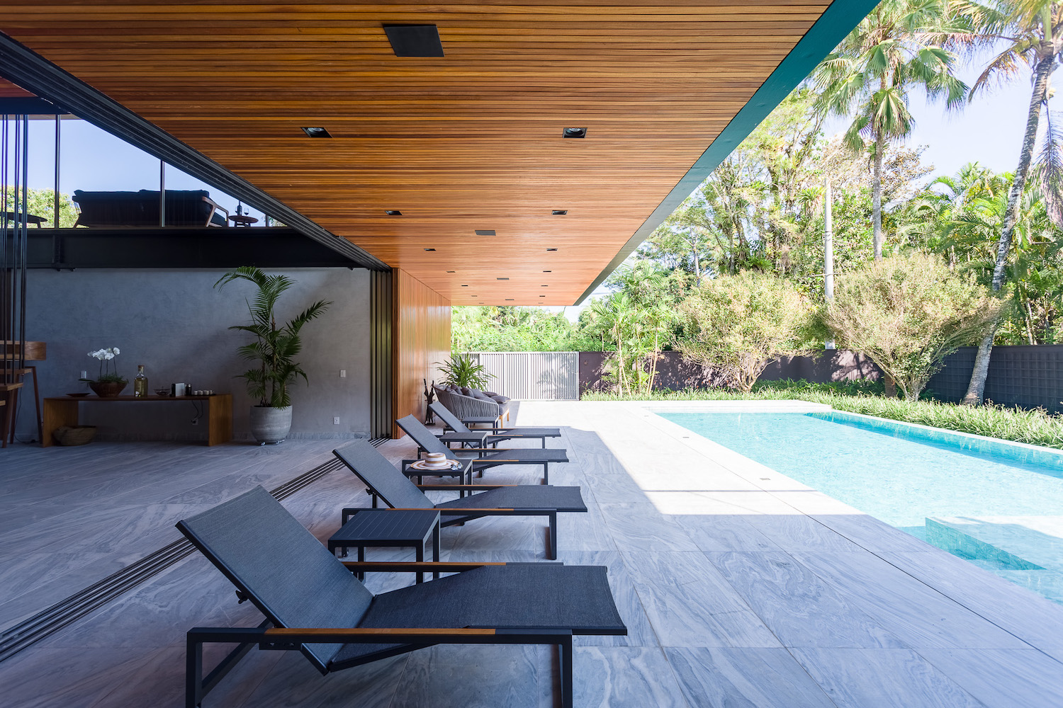 swimming pool with outdoor furniture