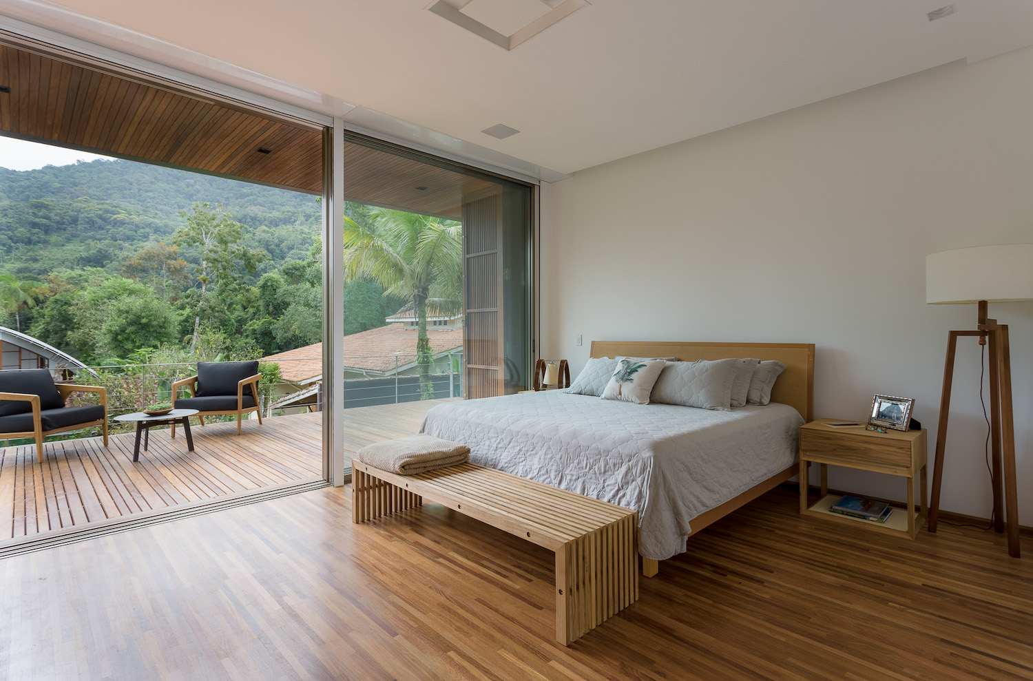 bedroom with jungle view